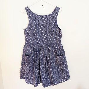 Jack Wills | Blue Floral Print A Line Tank Dress 8